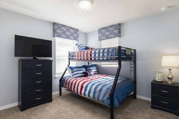 The kids will love picking out which bunk they will sleep in