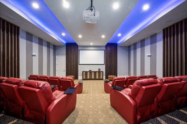 Watch movies in your own private home cinema theater