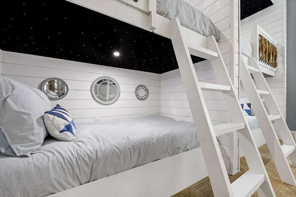 Four beds give the little ones plenty of space to relax after a fun day in Orlando