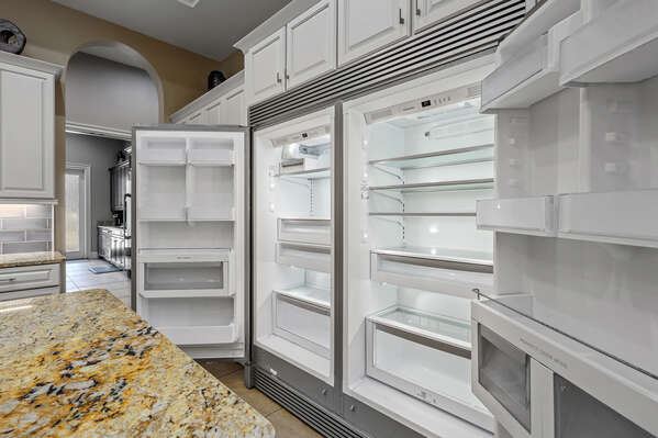 Plenty of space for all of your vacation food