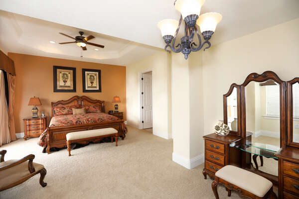 Gorgeous master suite located on the third floor
