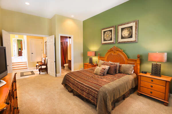 Spacious Master Suite on the second floor with a King bed