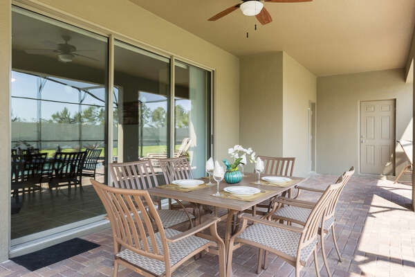 Dine al fresco in the outdoor dining table