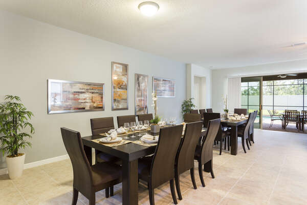 Formal dining table for all to enjoy a home cooked meal