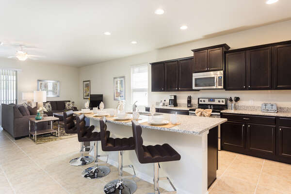 This home has a open floorplan throughout