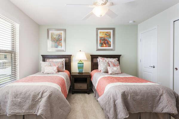 Bedroom 7 has 2 twin beds