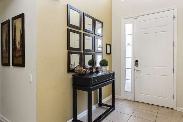 The foyer welcomes you in to this beautiful home