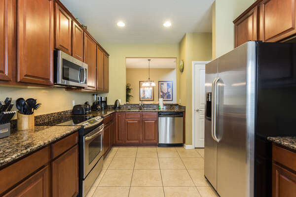 A fully equipped kitchen to cook up any meal for all
