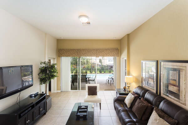 A spacious living area with plush seating to enjoy