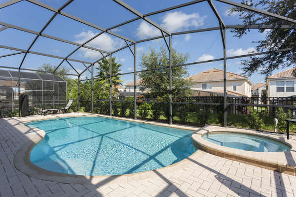 Enjoy the private screened-in pool at any time