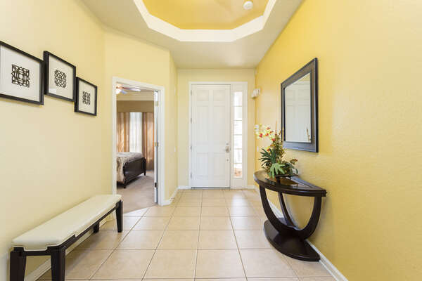 Be welcomed by a beautiful foyer area