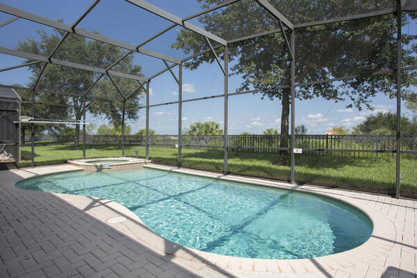 Enjoy your private pool at any time