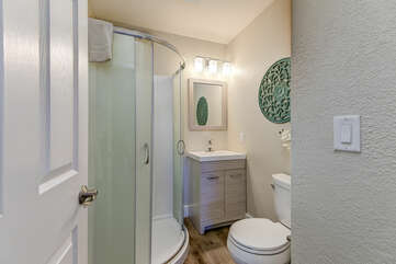 Upper Level Full Shared Bathroom 3 with a Shower