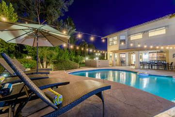 Amazing pool, hot tub, putting green, fire pit, sport court, BBQ, bocce and outdoor shower!