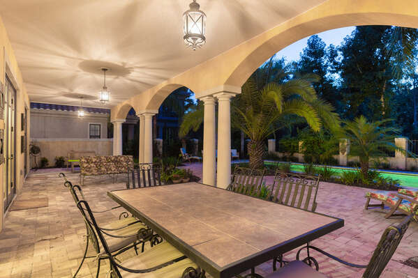 Spend time underneath the covered lanai