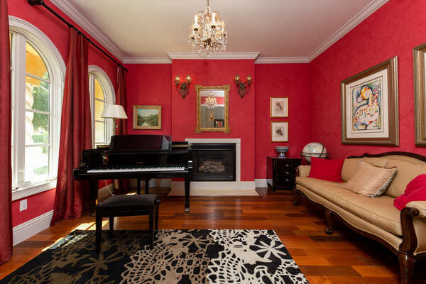Relax in the elegant piano lounge