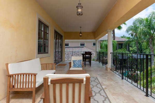 Plenty of comfortable patio furniture