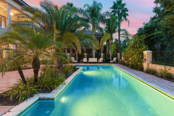 Enjoy your pool and patio at any time of day
