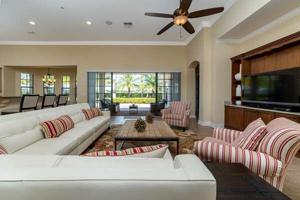 The spacious open living space is perfect for the whole family to be together