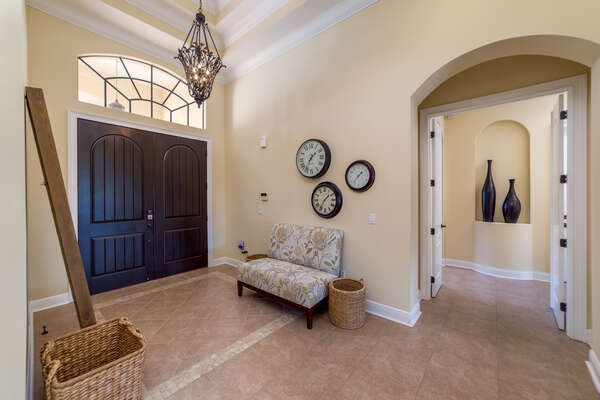 Step inside to a luxurious foyer