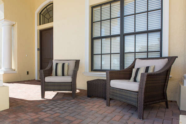 Enjoy the warm Florida weather on your own patio