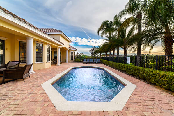 Enjoy your own private pool at any time of day