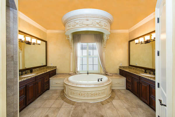 Gorgeous oversized master bathroom