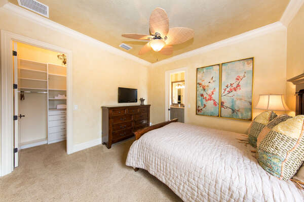 Head upstairs to find this comfortable Queen bedroom