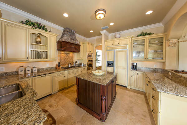 This spacious open kitchen has enough room for everyone to help
