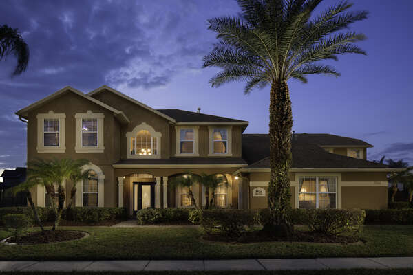 Enjoy the house during twilight hours