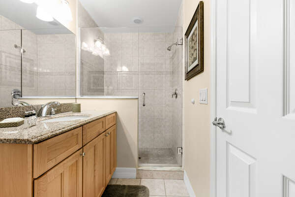Ample room in the bathrooms