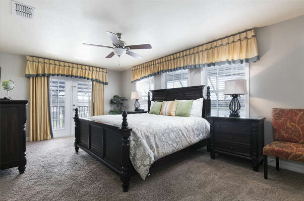Come home to this comfortable upstairs king bedroom after a tiring
