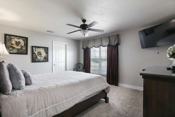 You'll love relaxing in this elegant downstairs queen bedroom