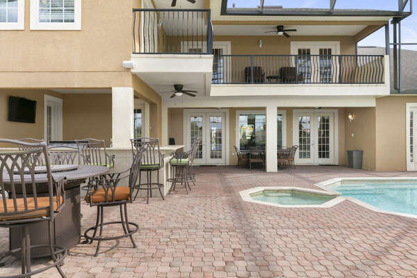 There's plenty of space around the pool making it the perfect place to entertain guests
