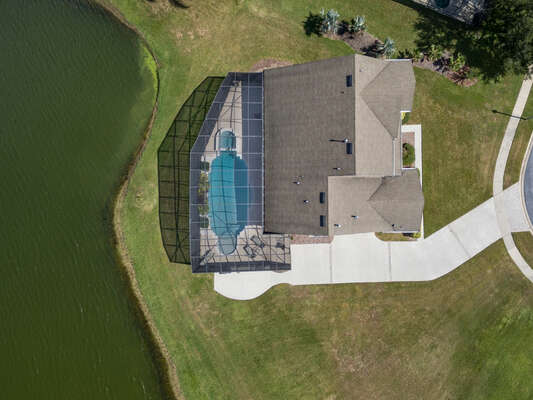 Aerial view of this amazing vacation rental home