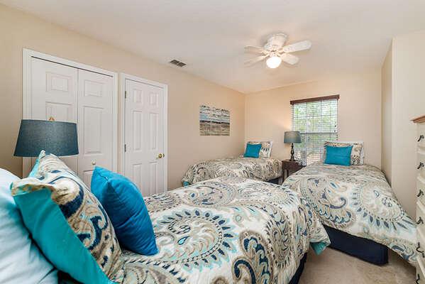 This room  sleeps 3 adults comfortably