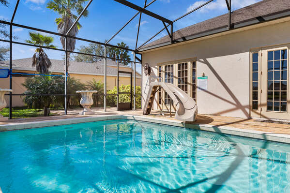 There's plenty of spots for you to relax and enjoy yourself poolside