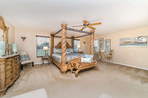 Come home to this comfortable and luxurious upstairs king bedroom after a tiring day
