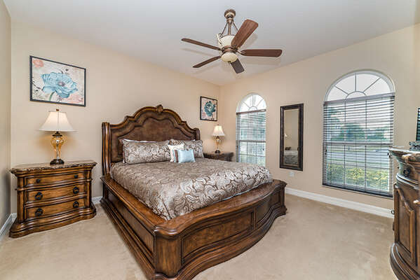 Come home to complete comfort with this master king bedroom