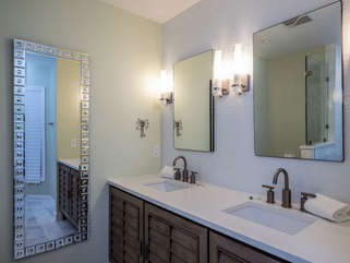 Newly updated master bath with double vanity