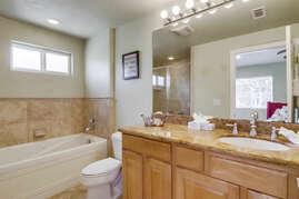 En suite bathroom from master bedroom.