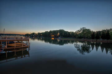 Gorgeous Views of Lake Norman - settled on a quiet cove down a serene channel.