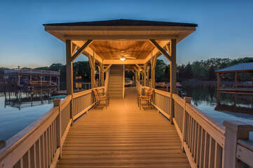 Dock Paradise - Plenty of bench and chair seating, making your night complete with gorgeous views of Lake Norman!
