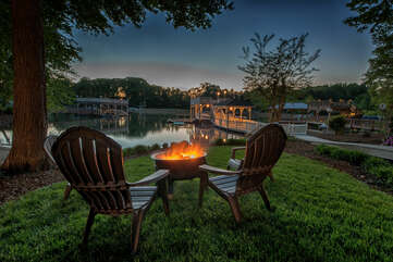 Smores for the kids, drinks for the adults. Nights by the fire pit make for the best Lakecations!