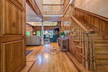 BEFORE: Walking into the custom wood house, will leave you in awe!