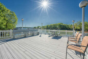 Upper level dock!  Perfect for picnic lunch and dinner and of course catching a few rays!