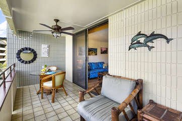 Lanai with Outdoor Furniture Set in White Sands Village 223