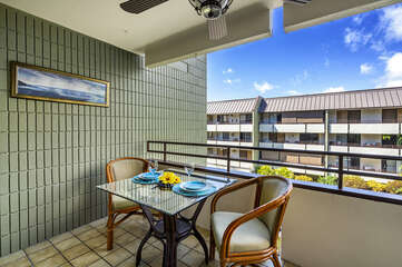Lanai with Outdoor Table and Chairs