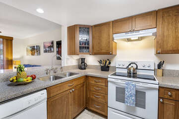 Kitchen with Dishwasher and Coffee Maker