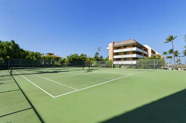 View of the White Sands Village Building and Tennis Courts